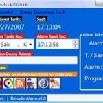 Ücretsiz Bahadır Alarm Saati Programı