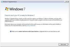 Windows 7 Yükseltme Danışmanı Programı