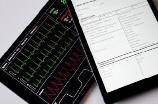 Medical data on tablet