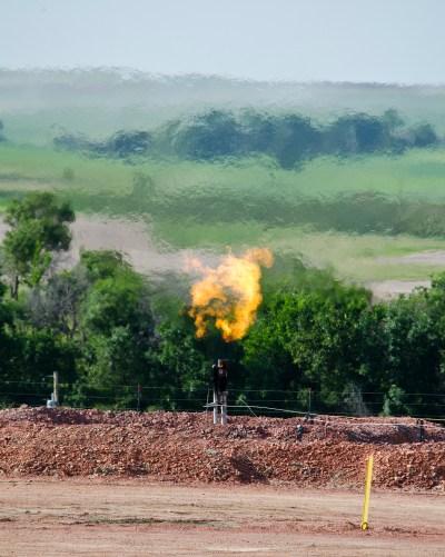 A methane flare