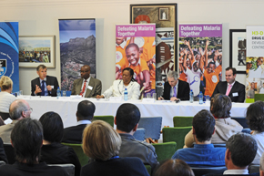 Panel report: Dr Tim Wells, Prof Kelly Chibale, Minister Naledi Pandor, Dr Max Price and Dr Richard Gordon