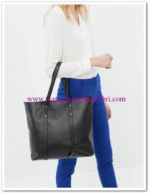 koton leather look bag