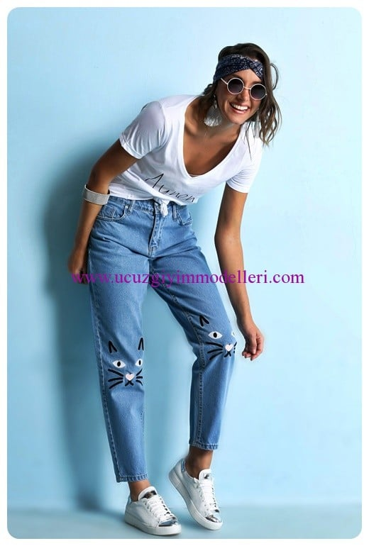 sateen kedili mom jean