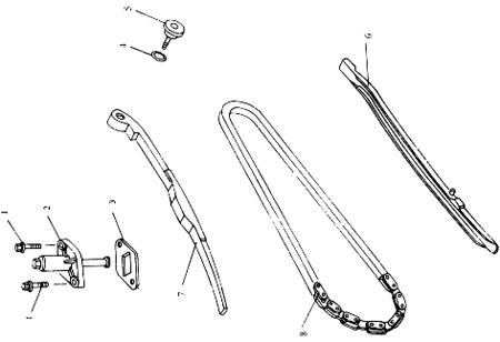 Dichtung Kettenspanner für Skooter Baotian BT49QT-11