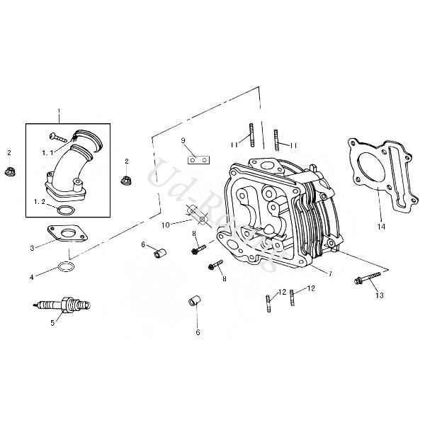 O-Ring Dichtung Ansaugstutzen Motorroller Baotian BT49QT-7