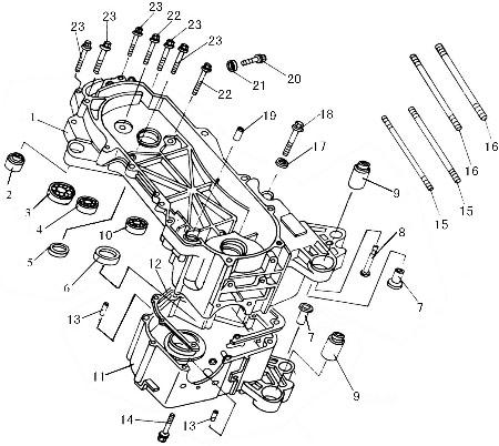 Silentblock per motore scooter Baotian BT49QT-11, Ricambi