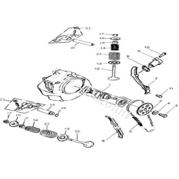 Timing Chain Guides for ATV BASHAN Quad 300cc (BS300S-18