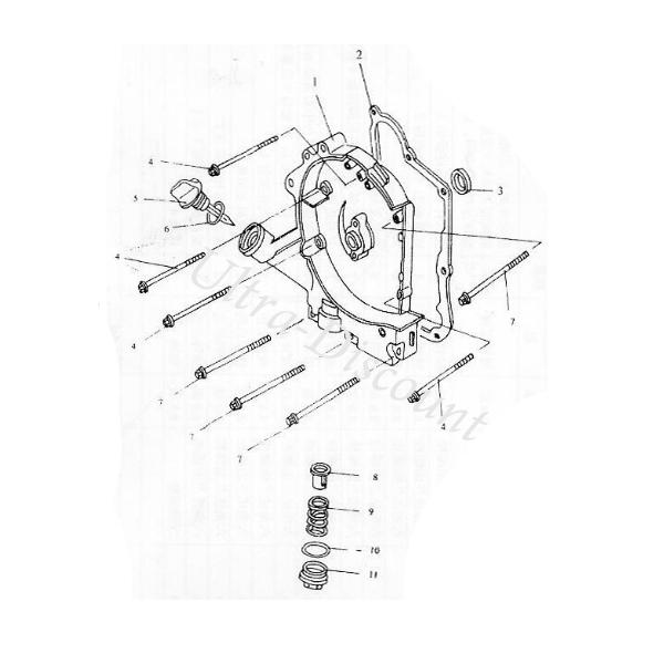 Strainer Cap O-ring for Baotian Scooter BT49QT-12, Engine