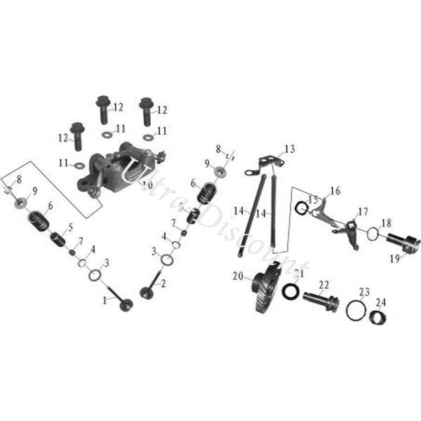 Cam Gear Shaft Washer for ATV SHINERAY Racing Quad 250cc