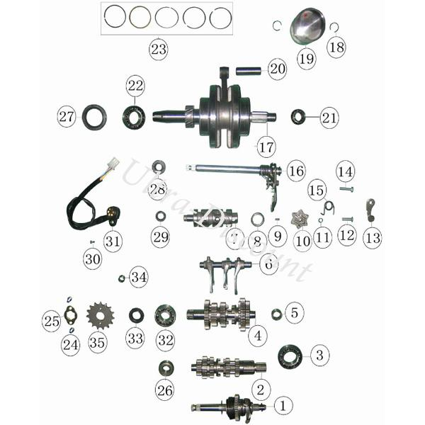 ud-spareparts.com, 2.99EUR, Gearbox Output Oil Seal for