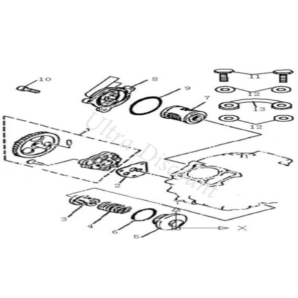 Oil Filter O-ring for ATV BASHAN Quad 300cc (BS300S-18