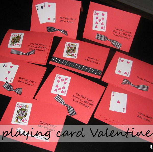 playing card valentine cards