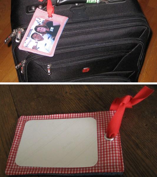 fabric luggage tag