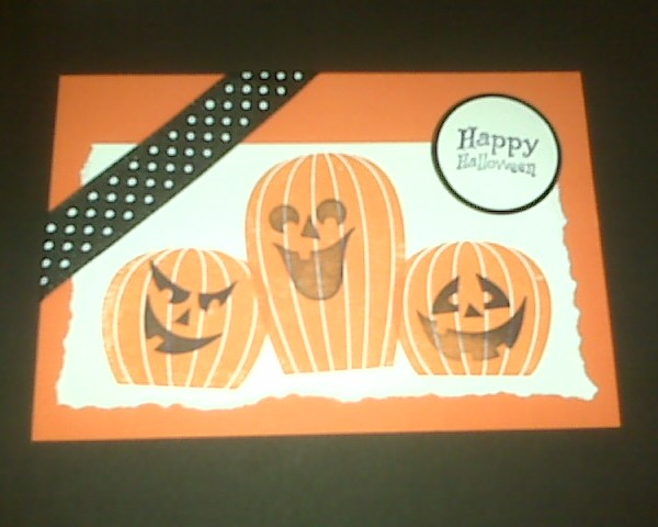 Halloween Stamped card | udandi.com
