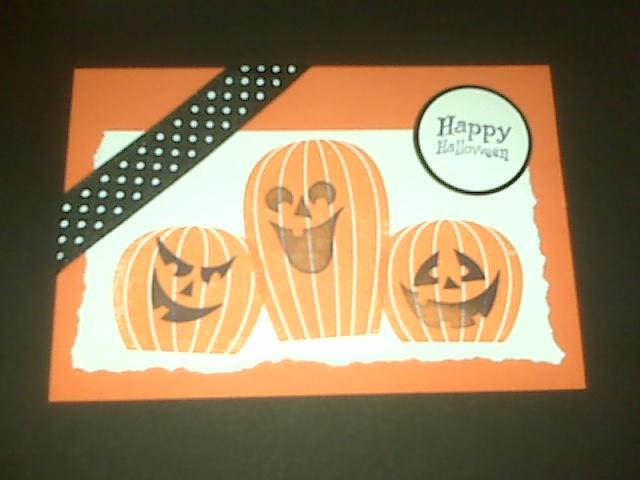 Halloween Stamped card   udandi.com