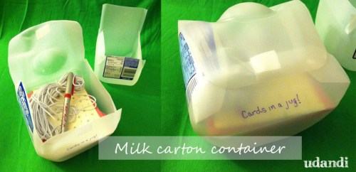 milk carton lunch box craft storage from udandi.com