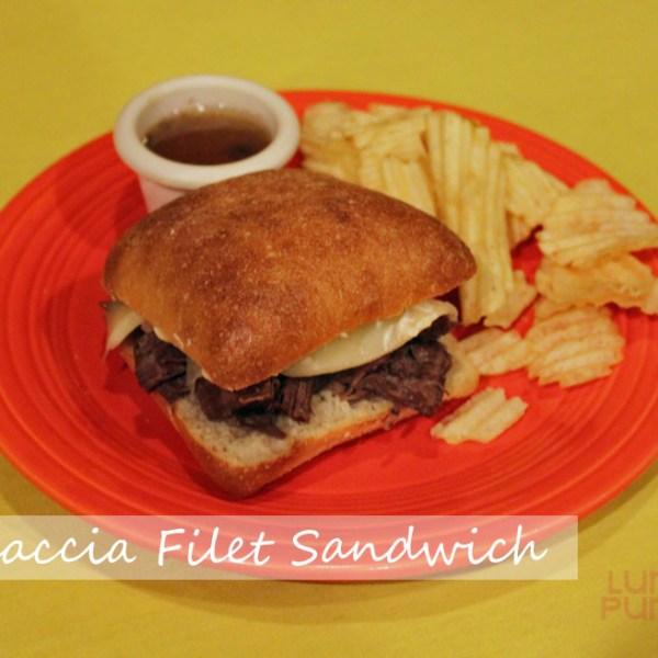 copycat Outback's Focaccia Filet Sandwich.