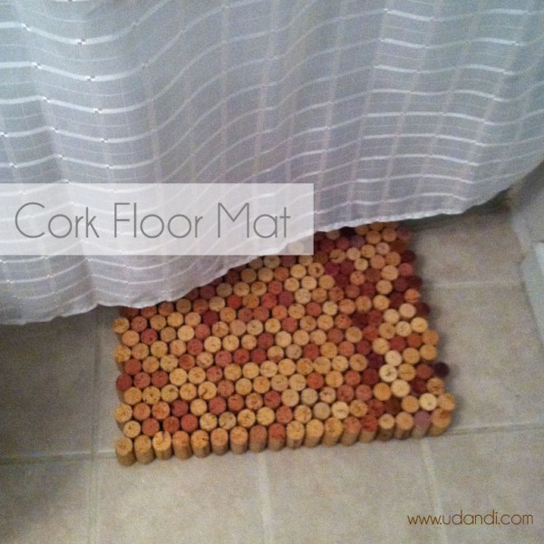 wine cork floor mat