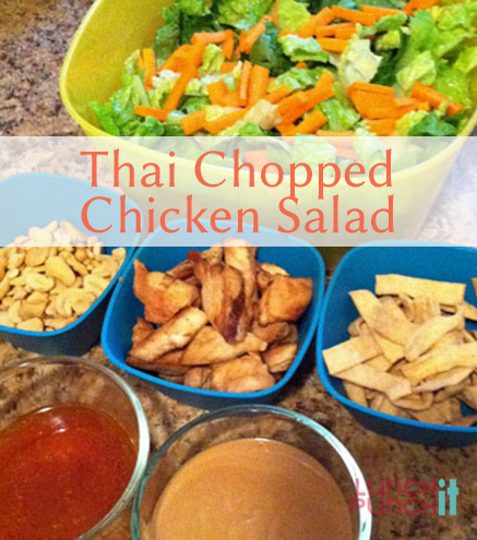 thai chopped chicken salad by LunchItPunchIt.com