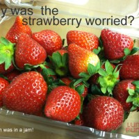 Why was the strawberry worried?