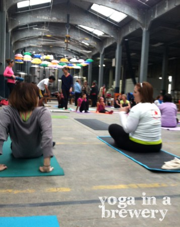 Yoga at Rhinegeist brewery