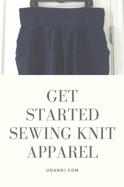 get started sewing knit apparel