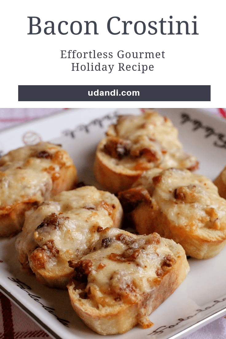 Bacon crostini Holiday Cheese Recipes | udandi.com