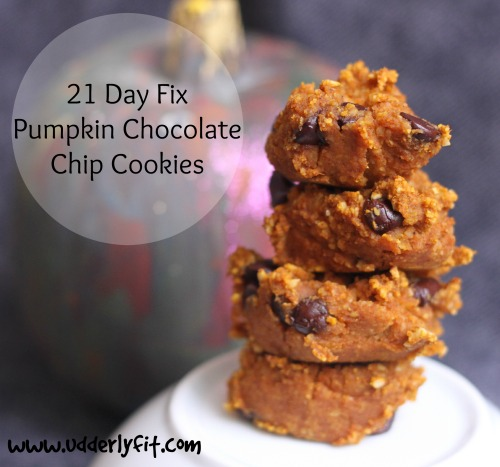 21 Day Fix Pumpkin Chocolate Chip Cookies