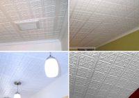Fleur-de-lis | Direct Mount Ceiling Tiles | White