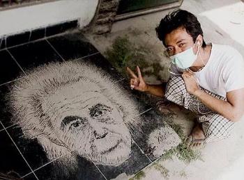 Lukisan Abu Vulkanik Einstein