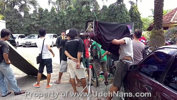 Suasana shooting sinetron kejar tayang