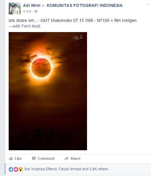 Foto Gerhana Matahari Total