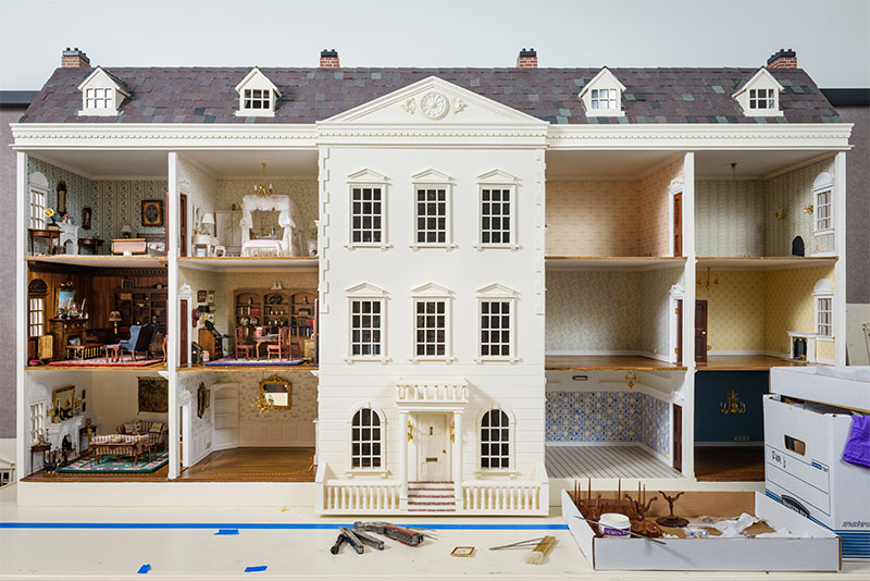 small kitchen table set movable island a mansion in miniature | udaily