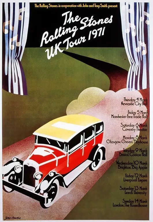 Stones 1971 UK tour