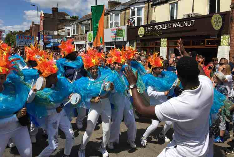UDMSamba, Cowley Road Carnival, Uniao da Mocidade, Youth samba London and Oxford, Bateria Mirim, Tamborins, Tamborim