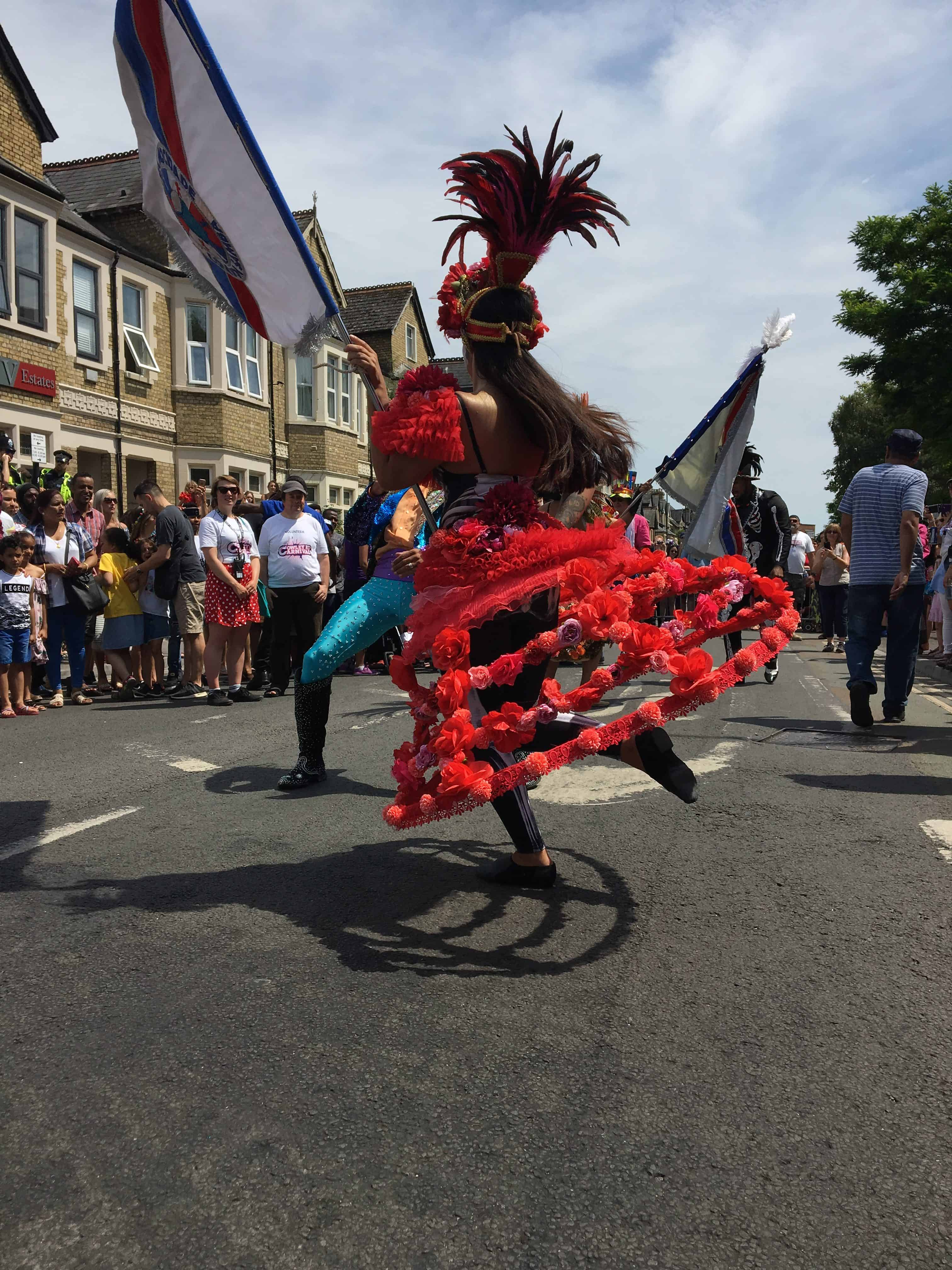 UDMSamba dancers, Cowley Road Carnival, Mestre Sala Porta Bandeira