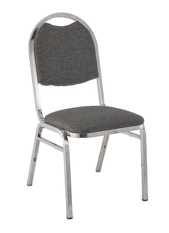 stackable padded chairs high chair safety strap gray stacking rental reception party banquet