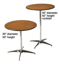 Tall Round, Square Cocktail Tables | Party Reception ...
