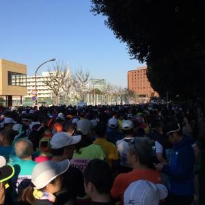 新宿シティハーフマラソン2015スタート前