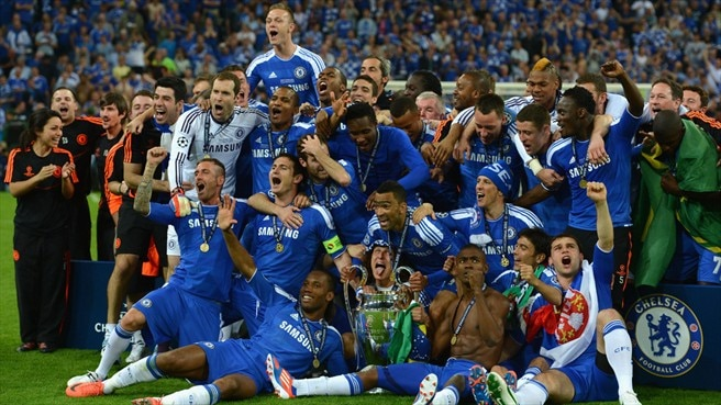 Chelsea etch new name on trophy