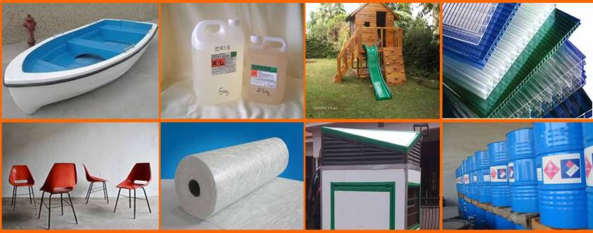 fibreglass furniture, boat, matt, polyester resin, polycarbonate sheet, kiosk
