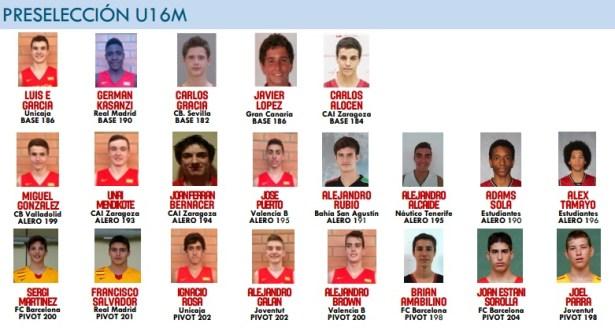Brian Amabilino convocatòria selecció espanyola cadet U16