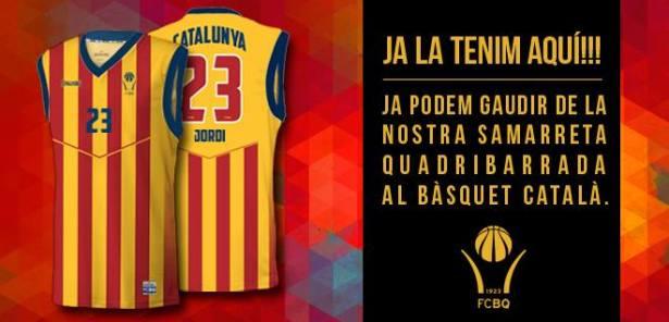 Samarreta quadribarrada selecció catalana-spalding-fcbq