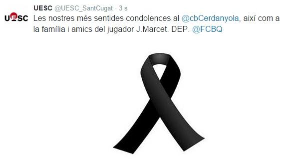 Tuit condol Josep Marcet CB Cerdanyola