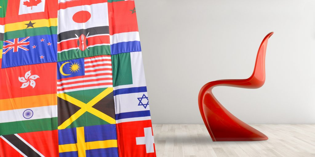 design model with flags
