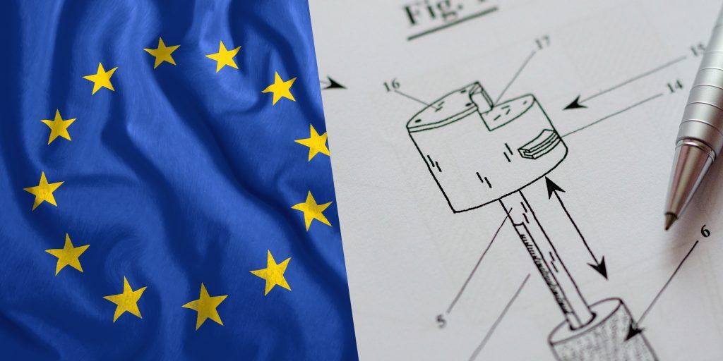 brevetto con bandiera europea