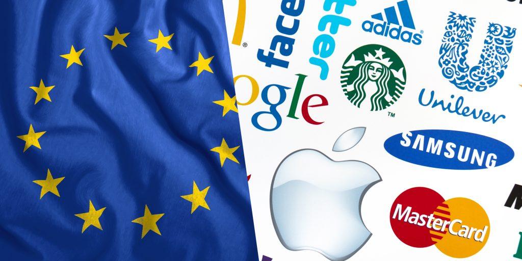 marchi registrati con bandiera europea
