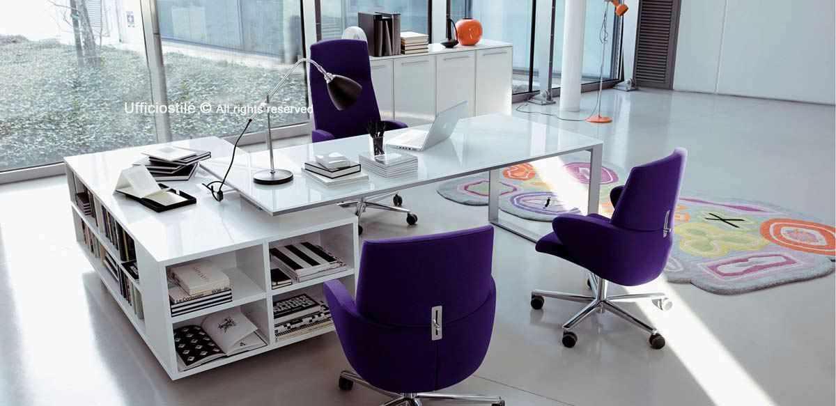 Scrivanie in legno o in vetro, boiserie, cassettiere e armadi librerie. Mobili Ufficio Arredo Ufficio Direzionale In Offerta
