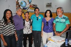 Foto Estudante de São Bento, primeiro lugar em Medicina, recebe visita do Reitor