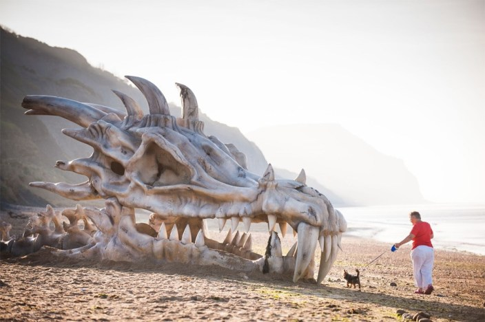 skeleton of a Dragon of 18 meters in China
